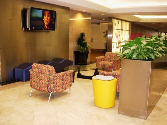 T-Mobile reception area as done by Design Work Build