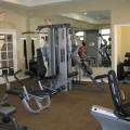 The gym at The Brownstones South, as redesigned by Work Build Design