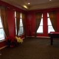 Beautiful fabric drapery was incorporated by Design Work Build.