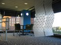 A futuristic office with curved walls at T-Mobile